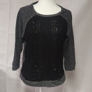 Lucky brand lucky lotus sweater size large